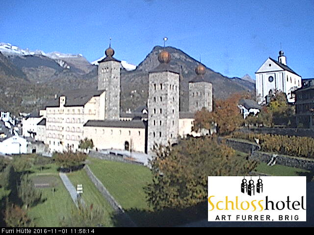 Brig Live Cam, Switzerland – View of the castle Stolpen